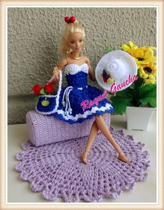 Crochet Doll Dress, Crochet Barbie Clothes, Crochet Doll Pattern, Barbie Song, Barbie Dress, Barbie Clothes Patterns, Ken Doll, Barbie Furniture, Barbie Friends