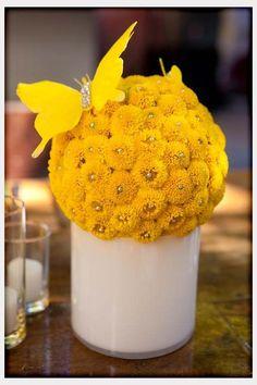 Fun Yellow Wedding Centerpiece