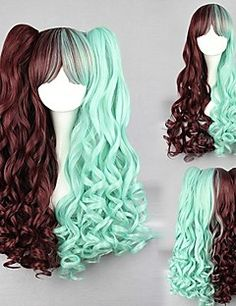 Details about charm Lolita curly color mixed cosplay wig 2 clip ponytail lovely cute girl Stop Grey Hair, Grey Hair Wig, Lace Hair, Cosplay Hair, Cosplay Wigs, Lolita Cosplay, Kawaii Hairstyles, Wig Hairstyles, Grey Hair Treatment