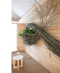 Branch floral installation by Katie Marx
