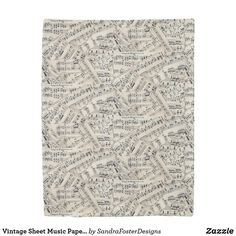 Shop Vintage Sheet Music Paper Collage Duvet Cover created by SandraFosterDesigns. Music Notes Art, Music Collage, Collage Artwork, Art Music, Vintage Sheet Music, Vintage Sheets, Music Teacher Gifts, Music Paper, Gift For Music Lover