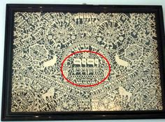 There was no description, but if you click on it there are other items/books with the tetragrammatan on them. Is in a European language. Nice to see.