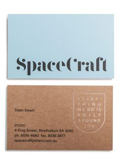 SpaceCraft business cards designed by Parallax Design. Join the Branding / Identity / Design Newsletter ➞ Brand Identity Design, Corporate Design, Branding Design, Logo Design, Logo Branding, Graphic Design, Logos, Design Agency, Business Branding