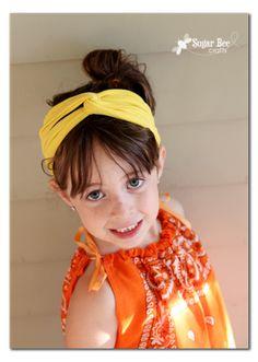T shirt headband (several variations): Sugar Bee Crafts