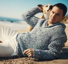Channing Tatum is a Hollywood hunk, budding producer and dog lover!  Recently, when a reporter from Details magazine was at his house, he met Channing's pit...