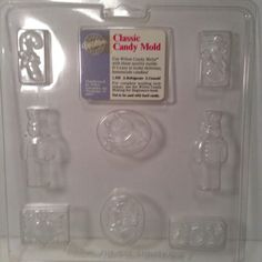 Christmas candy chocolate mold soldiers candy cane http://stores.ebay.com/tovascollectibles