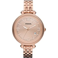 Fossil Ladies Casual Heather Rose Gold ES3130