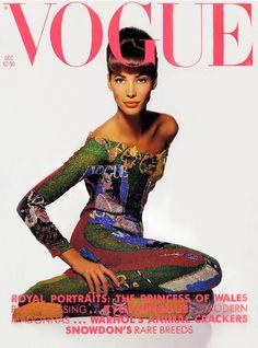 Christy Turlington VOGUE UK December 1990 cover TBT | Christy Turlingtons Vogue UK Covers Throughout the Years