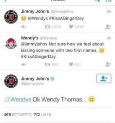 Petty American Fast Food Chain Wendys Clapback On Twitter - 24 hilarious comebacks wendys twitter account
