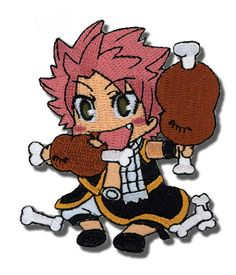 Fairy Tail Natsu Eating Embroidered Patch