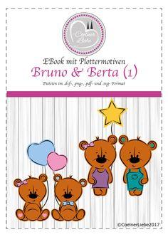 """EBook """"Bruno & Berta """" **Teil 1** **Plottermotive und Anleitung für den privaten Gebrauch**  Dieses EBook enthält Vektorgrafiken inklusive einer ausführlichen und bebilderten Schritt-für-Schritt..."""