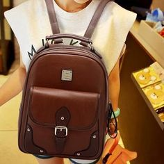 Buy 'BeiBaoBao – Faux-Leather Buckled Backpack' with Free International Shipping at YesStyle.com. Browse and shop for thousands of Asian fashion items from China and more!
