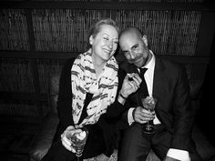 Meryl Streep and Stanley Tucci {I could smile at this all day long}