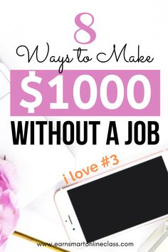 Want to make money without having a real job? Well, here are 21 simple ways that you can use to earn money from home and super fast too! You can actually make money online starting today and while at home too! #makemoney #makemoneyfast #sidehustles #extracash #careersfromhome