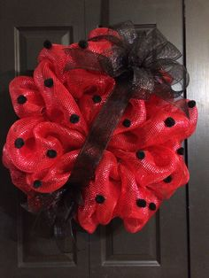 A personal favorite from my Etsy shop https://www.etsy.com/listing/186757786/ladybug-wreath