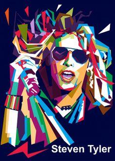 Steven Tyler Wpap Art by nur kholis Pop Art Artists, New Artists, Pop Art Posters, Poster Prints, Illustration Pop Art, Illustrations, Eden Design, Pop Art Portraits, Steven Tyler