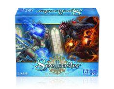 Spellcaster est un jeu de cartes opposants 2 à 4 magiciens dans des duels pour la suprématie. Vous remportez le duel en épuisant l'énergie de vos adversaires ou en récupérant assez de saphirs de sorcellerie pour les surpasser.