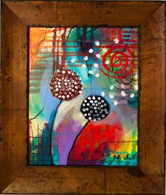 Original Painting Abstract Contemporary Art FRAMED by by BrieWest, $175.00
