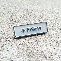 Follow Emoji Pin. Awesome for backpacks, clothing, and your own personal touch. View: