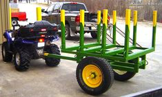 ATV Log Trailer, D. Girard | This project was built by my st… | Flickr Log Trailer, Utility Trailer, Atv Trailers, Expedition Trailer, Tractor Attachments, Welding And Fabrication, Atv Accessories, Farm Tools, Farm Yard