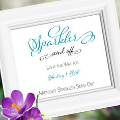 Sparkler Send Off Custom Wedding Sign Decoration  by weddingfusion, $9.75