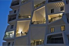 This Building Was Designed With A Jumble Of Uniquely Shaped Outdoor Spaces For Each Apartment Photography by Dinesh Mehta Sanjay Puri Architects have designed a 15 storey residential building in Ranchi India that features uniquely nbsp hellip Contemporary Architecture, Amazing Architecture, Architecture Details, Parametric Architecture, Building Architecture, Villa Design, House Design, Residential Building Design, Modern Buildings