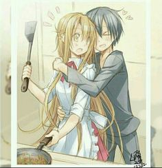 Kirito and Asuna: man I wish I could find better pics of them