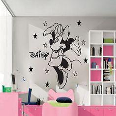 Disney Minnie Mouse Personalised Wall Sticker Art Decal Mural Vinyl Kids room
