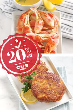 No week is as tasty as Crab Week! Order your favorite crab🦀 dish right now and get 20% off. All you have to do is use promo code CRABWEEK. #LobsterGram #CrabWeek Lobster Gram, Lobster Pot Pies, Seafood Dinner, Fresh Seafood, Crab Legs For Sale, Frozen Lobster Tails, Shrimp Cocktail Sauce, Maryland Style Crab Cakes, Alaskan King Crab