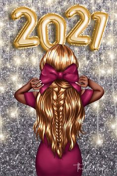 Cartoon Girl Images, Girl Cartoon, Cartoon Art, Beautiful Girl Drawing, Cute Girl Drawing, New Year Clipart, Ponytail Girl, Happy New Year Images, Cute Girl Wallpaper