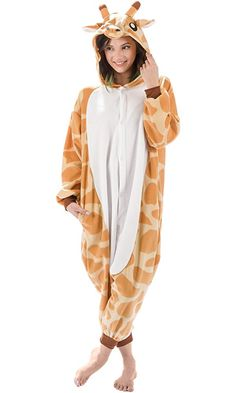 Emolly Fashion Adult Giraffe Animal Onesie Costume Pajamas for Adults and Teens