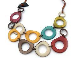 Multicolor Necklace Pride Jewelry Rainbow necklace Tagua | Etsy Bib Necklaces, Antique Copper, Jewlery, Pride, Rainbow, Unique Jewelry, Personalized Items, Gifts, Etsy