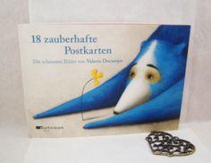 """""""Jedes Motiv ist 2x enthalten. Das find ich super, so kann ich ruhigen Gewissens hübsche Postkarten verschicken und habe noch Motive in Reserve."""", Melli's Bücher Blog über Valeria Docampo: '18 zauberhafte Postkarten'"""