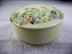 Vintage Porcelain Trinket Vanity Box Japan