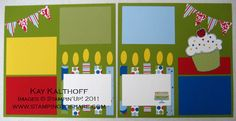 stampin up scrapbook layouts | Stampin' Up 12x12 Birthday Scrapbook Pages