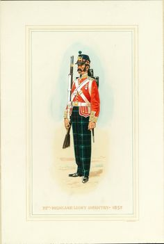 British; 71st Highland Light Infantry. 1857 by Douglas N. Anderson