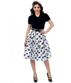 Doggone it, dears! This lovable swing skirt fresh from Hell Bunny comes complete in a darling doggy print set against a...Price - $58.00-IeV1ZCCM