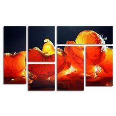 Trademark Fine Art Cecile Baird 'Mandarin Orange' Multi Panel Art Set