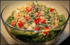 """Sandra's Alaska Recipes: SANDRA'S LEBANESE-STYLE QUINOA (""""KEEN-WA"""") and SPINACH SALAD"""