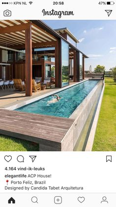 Everyone loves luxury swimming pool layouts, aren't they? Here are some leading checklist of deluxe pool photo for your motivation. These dreamy swimming pool design suggestions will transform your backyard right into an exterior sanctuary. Villa Design, Spa Design, Small Backyard Design, Backyard Pool Designs, Backyard Lap Pools, Backyard Ideas, Pool Fence, Outdoor Pool, Indoor Outdoor