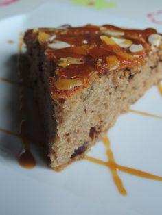 Gâteau à la farine de châtaigne, sirop d'érable et pépites de chocolat