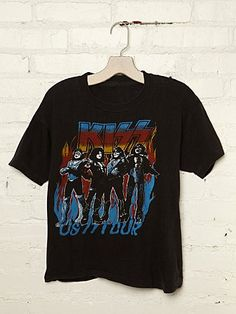 Vintage Kiss US 77 Tour Rock Tee