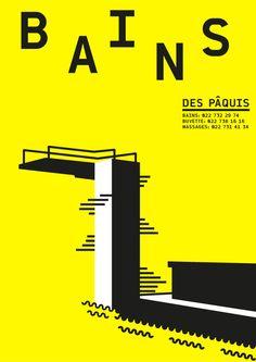Bains des Paquîs by Josue Roca Calderon, via Behance