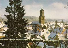 AK - Biberach an der Riß - Winter - Kirche St. Martin - Altstadt - Oberschwaben