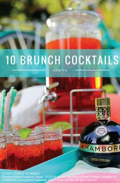 Treat yourself and your friends to one of these 10 delicious recipes. Whether it's a Black Raspberry Margarita or a Punch Royale, you are sure to find a crowd-pleaser for your next stylish brunch. Click here to learn how to make these flavorful cocktails.