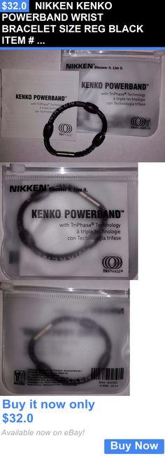 Magnetic Therapy Devices: Nikken Kenko Powerband Wrist Bracelet Size Reg Black Item # 19080 Ship Worldwide BUY IT NOW ONLY: $32.0