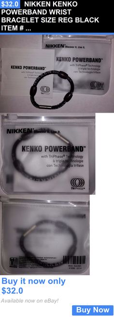 Magnetic Therapy Devices: Nikken Kenko Powerband Wrist Bracelet Size Reg Black Item # 19080 Ship Worldwide BUY IT NOW ONLY: $32.0