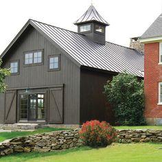 Vintage Timber Frame Barn Addition - farmhouse - Exterior - Burlington - The McKernon Group