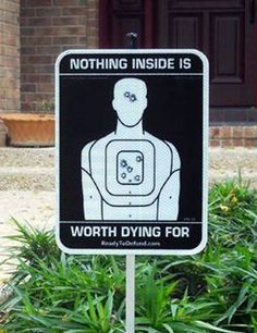 I would love to have this with the shots doubled and a notation of: Both Owners Have Law Enforcement Firearms Training Just For Fun, Just For Laughs, Haha, My Dream Home, Home Security Systems, Best Home Security System, Sweet Home, Funny Signs, Mug