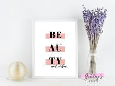 Beauty and virtue digital printable wall art for home decor/ bedroom wall art/ fashion quote | Etsy  #fashionquote #beauty #digitalprints #wallart #girlart